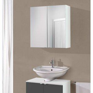 Milan 60cm X 64cm Surface Mount Flat Mirror Cabinet