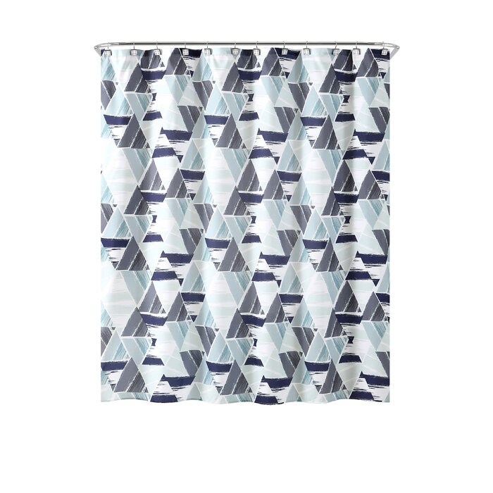 Ivy Bronx Bolinger Modern Mosaic Shower Curtain Set & Reviews ...
