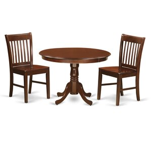 Hartland 3 Piece Dining Table Set by East West F..