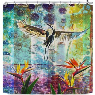 Alyzen Moonshadow Birds of Paradise with Stork Shower Curtain