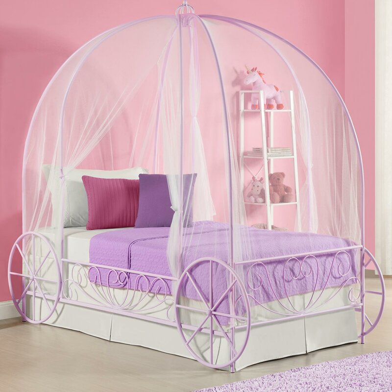 What Is A Canopy Bed zoomie kids brandy twin canopy bed & reviews | wayfair