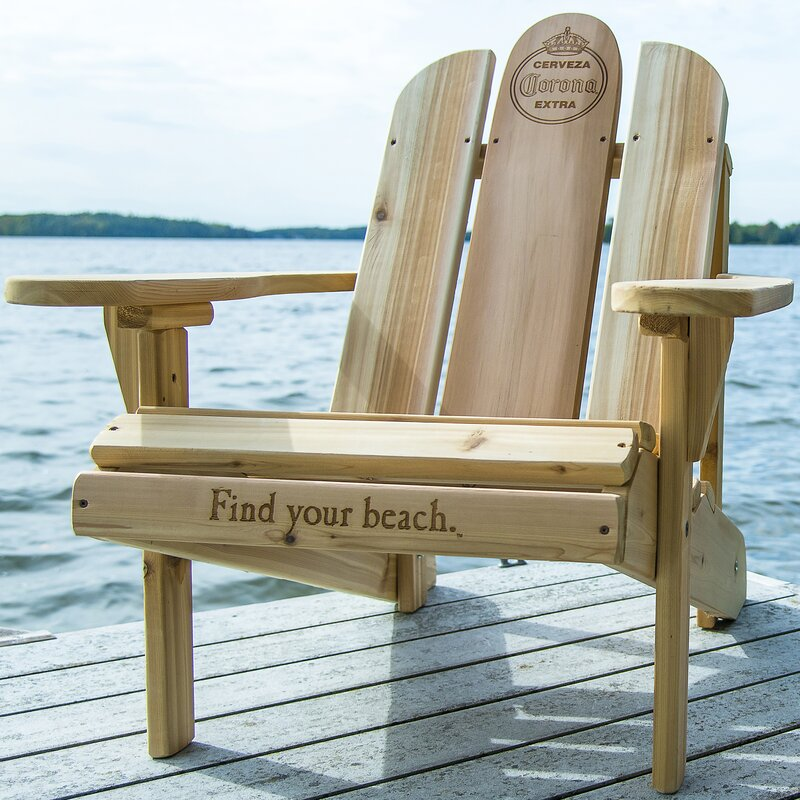 Nice Solid Wood Adirondack Chair With Table