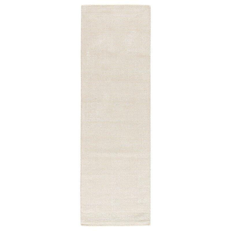 Alcott Hill Windridge White Area Rug, Size: Rectangle 8 x 10