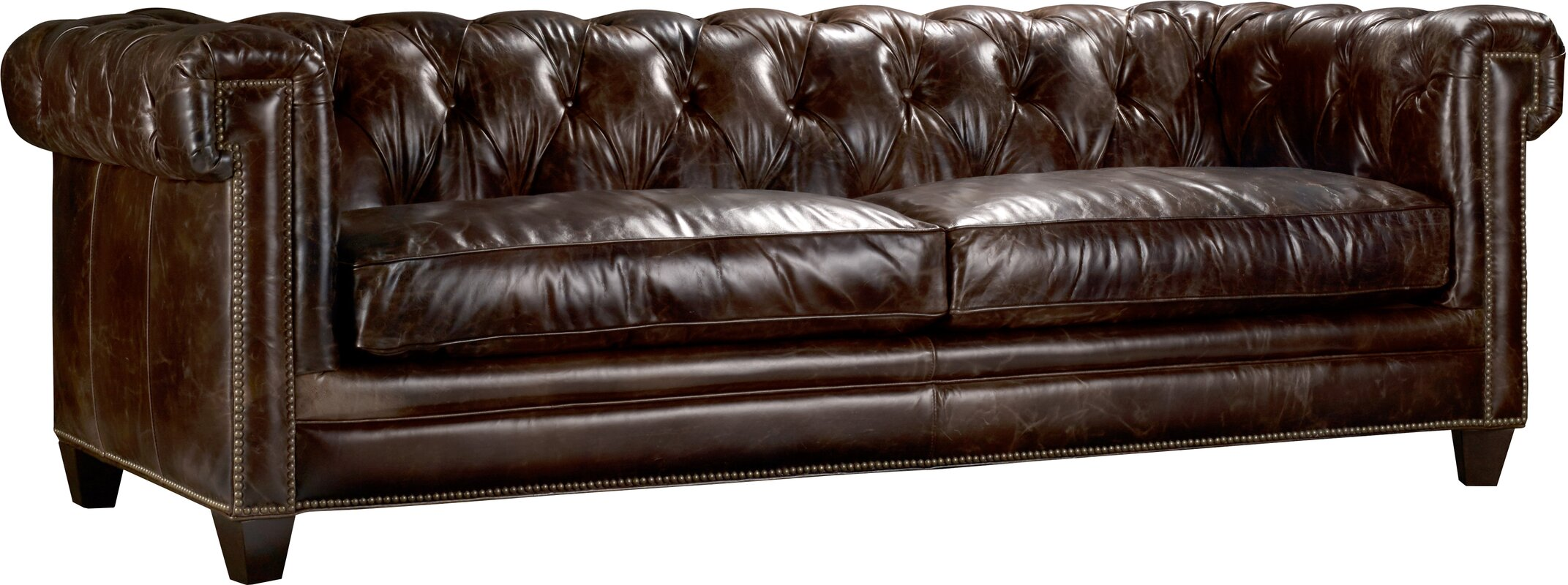 Imperial Regal Stationary Leather Chesterfield Sofa
