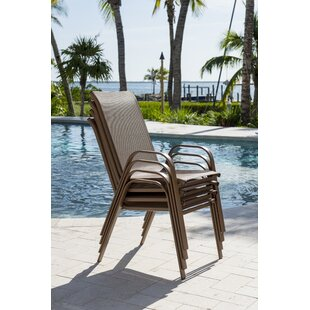 Café Stacking Patio Dining Chair (Set Of 4)