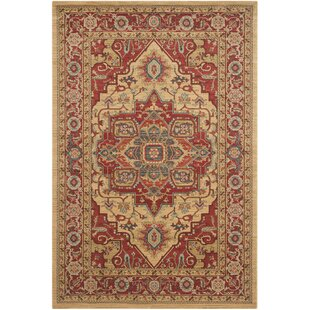 Hamden Red Gold Area Rug