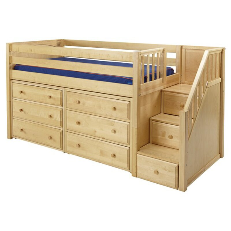 Maxtrix Kids Great3 Low Loft Bed With Storage Amp Reviews
