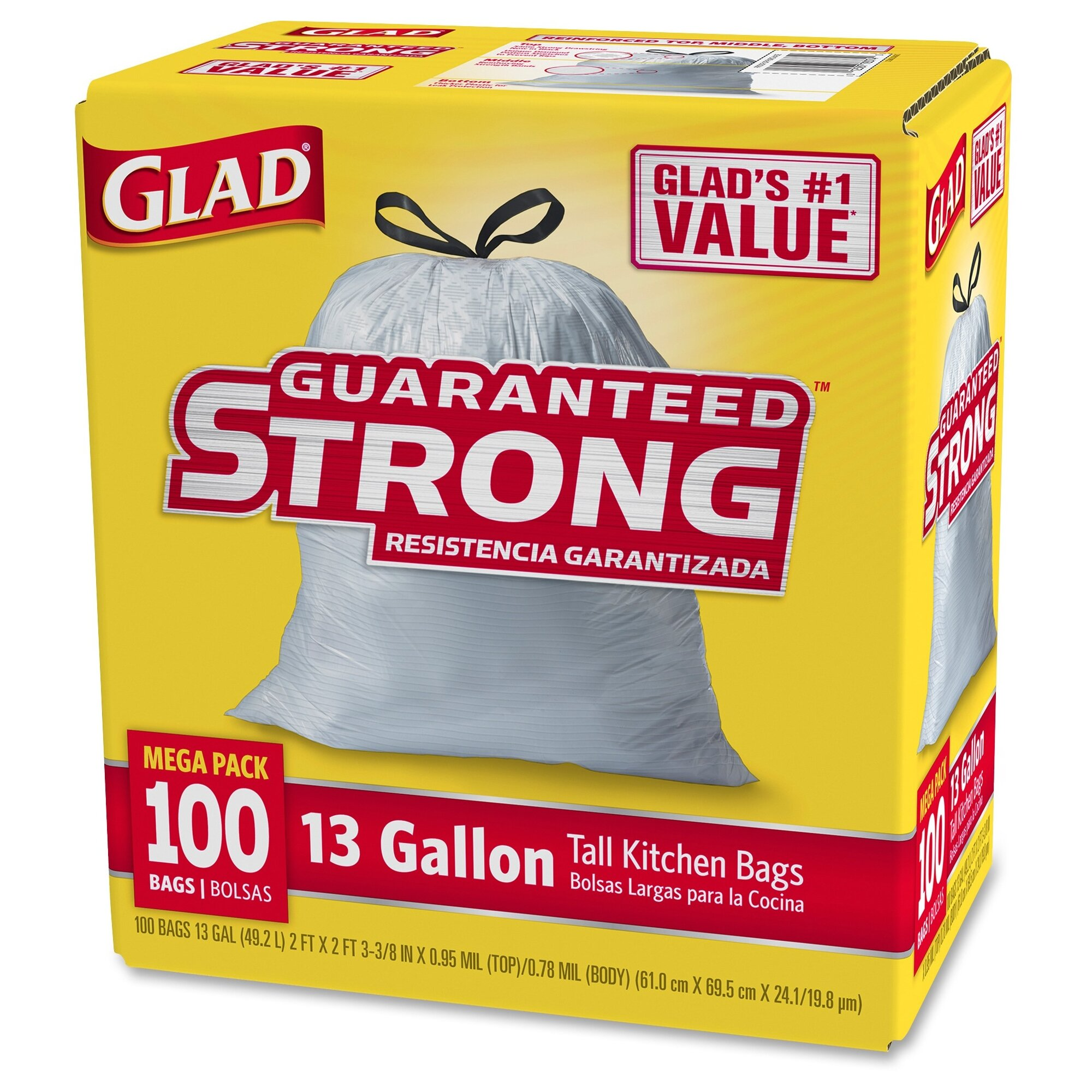Clorox Glad Tall Kitchen Drawstring 13 Gal Trash Bags 100 Count Reviews Wayfair