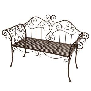 2-Sitzer Gartenbank Viva La France aus Metall von Harms Import