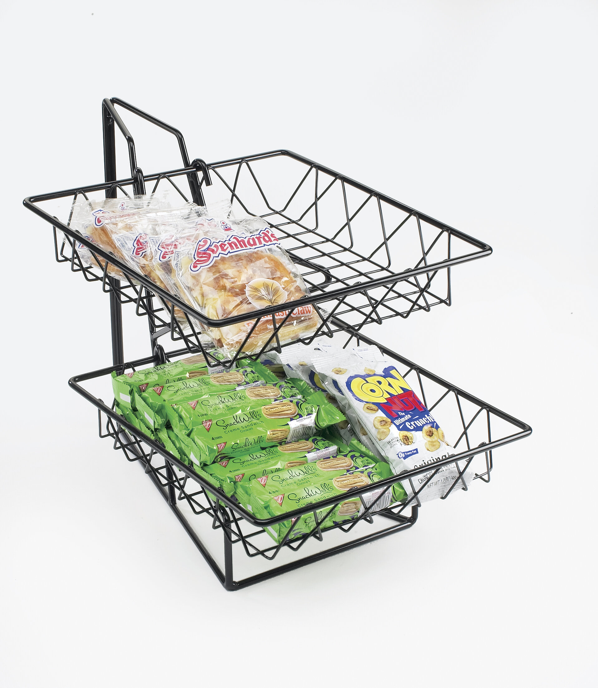2 Tier Square Wire Basket Rack