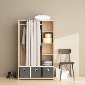 Loke 3 Bin Curtain Storage Center Armoire by Ebern Designs