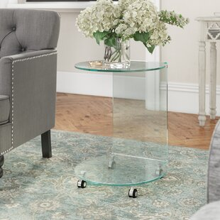 Round Glass Top Side Table Wayfair Co Uk