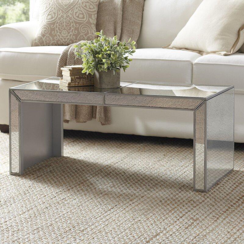 Mirrored Octagon Coffee Table: Birch Lane™ Elliott Mirrored Coffee Table & Reviews