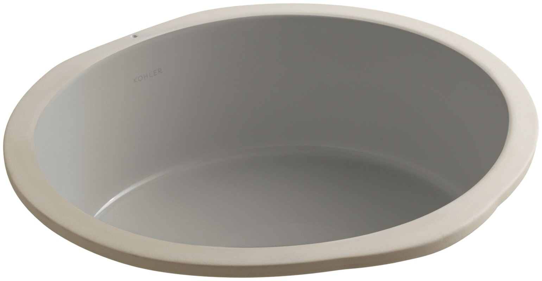 Kohler Undermount Bathroom Sinks Reviews kohler verticyl circular undermount bathroom sink & reviews   wayfair