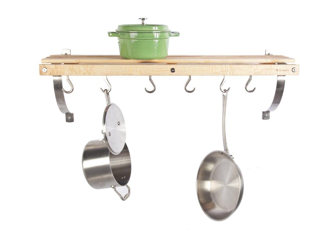 j k adams wall mounted pot rack reviews wayfair. Black Bedroom Furniture Sets. Home Design Ideas