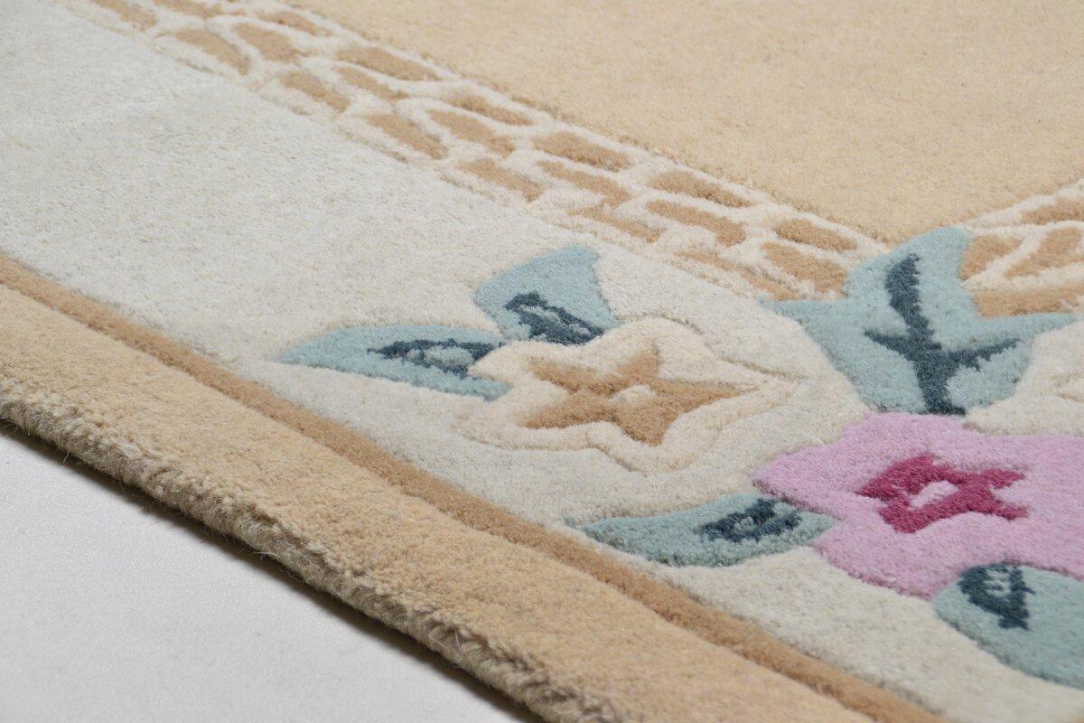 theko handgefertigter teppich harmony aus wolle in beige bewertungen. Black Bedroom Furniture Sets. Home Design Ideas