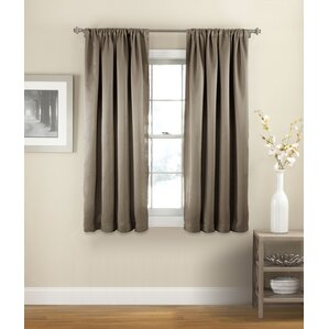 Evangelina Solid Room Darkening Thermal Rod Pocket Single Curtain Panel