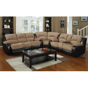 Asher Reversible Reclining Sectional by E-Mo..