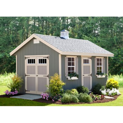 Riverside 10 ft  W x 14 ft  D Wooden Storage Shed