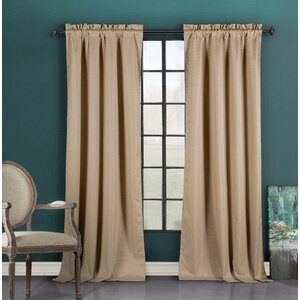 Devon Solid Rod Pocket Solid Sheer Blackout Curtain Panel