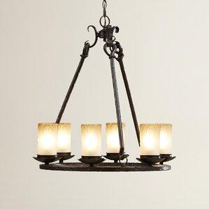 rowan 6light shaded chandelier
