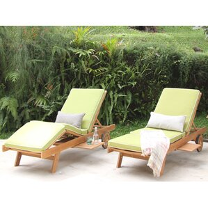 Monterey Teak Chaise Lounge With Cushion