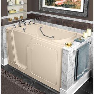 Dignity 48  x 28  Whirlpool and Air Jetted Walk In BathtubWalk In Tubs You ll Love   Wayfair. Lay Down Walk In Bathtub. Home Design Ideas