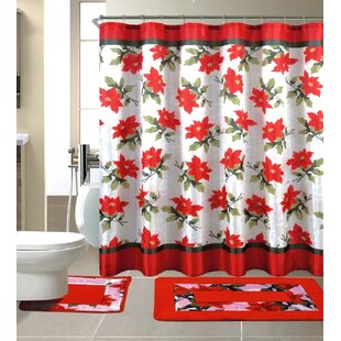 15 Piece Christmas Shower Curtain Set