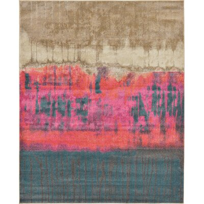 Wrought Studio Wynn Traditional Pink Area Rug Rug Size: Rectangle 8' x 10'