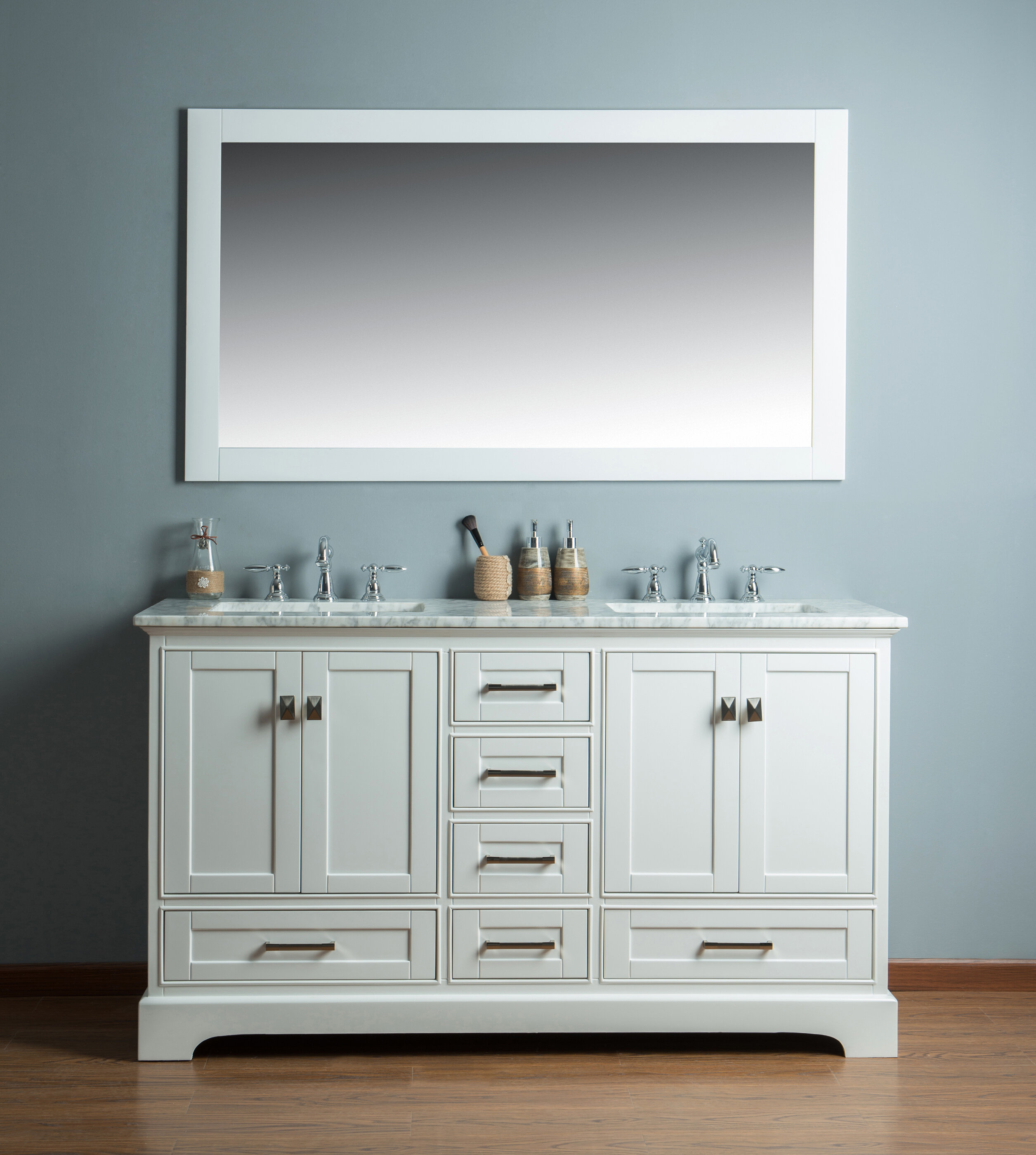 Willa Arlo Interiors Stian 60 Double Sink Bathroom Vanity Set