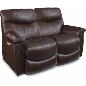 James LA-Z-TIME? POWER-RECLINE Loveseat with Power Headrest by La-Z-Boy