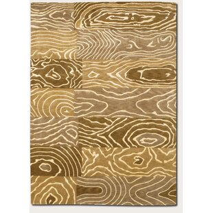 Liza Wood Grain Hand Knotted Gold Area Rug