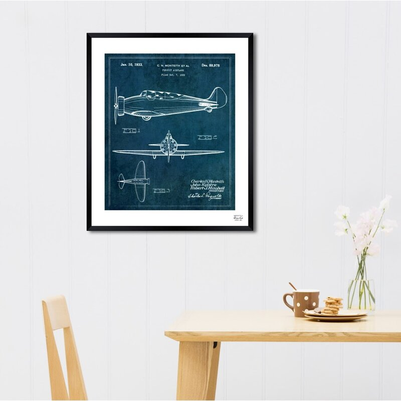 Pursuit Airplane 1933 Framed Graphic Art & Reviews | Birch Lane