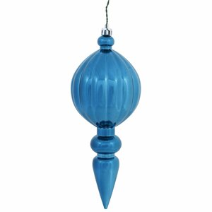 Christmas Finial Drop Ornament with Drilled Cap (Set of 6)
