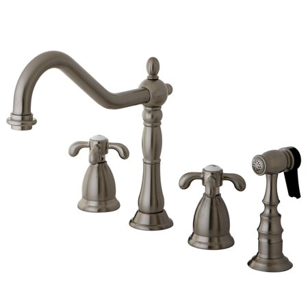 Kingston Brass French Country Double Handle Kitchen Faucet U0026 Reviews |  Wayfair