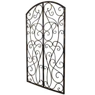 Wrought Iron Scroll Panel Wall Décor