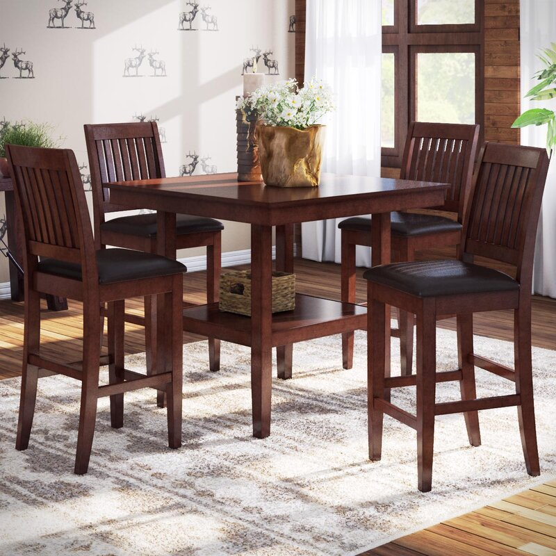 Attractive Chippewa 5 Piece Counter Height Dining Set Part 8