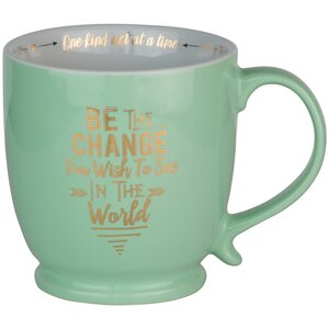 Be The Change Footed Latte Mug