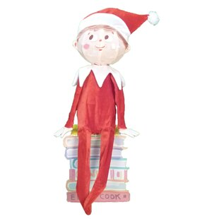 elf on the shelf 3 d sitting elf christmas decoration with lights - Elf Outdoor Christmas Decorations