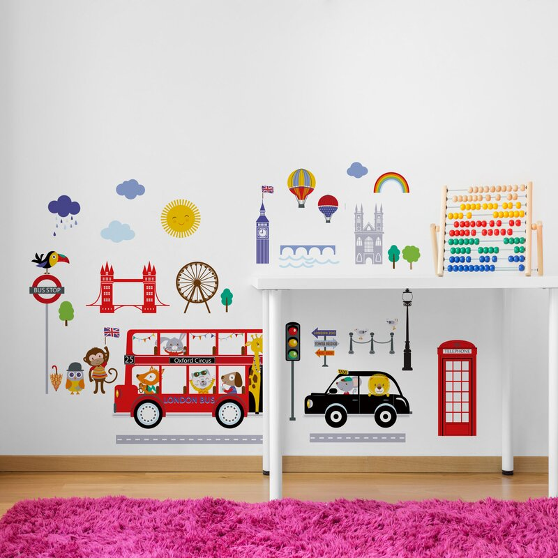 Cherrycreekdecals London Buses Nursery Wall Decal Wayfair