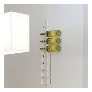 Acrylic 8 Bottle Wall Mounted Wine Rack