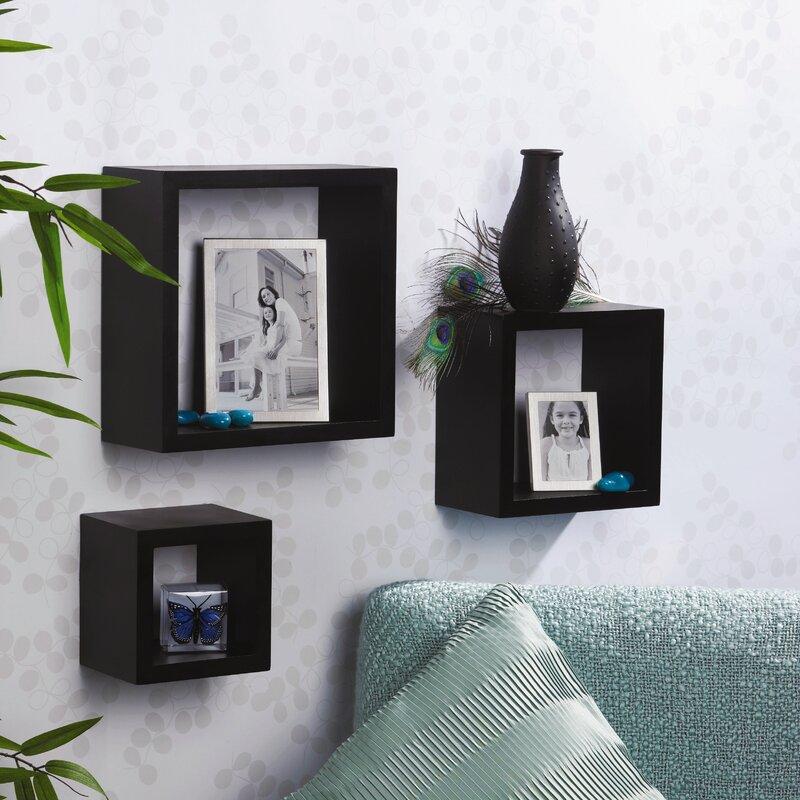 Melannco Floating Shelves Enchanting Melannco 60 Piece Square Shelf Set Reviews Wayfair