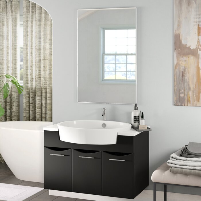Wade Logan Brizendine 34 Wall Mounted Single Bathroom Vanity Set