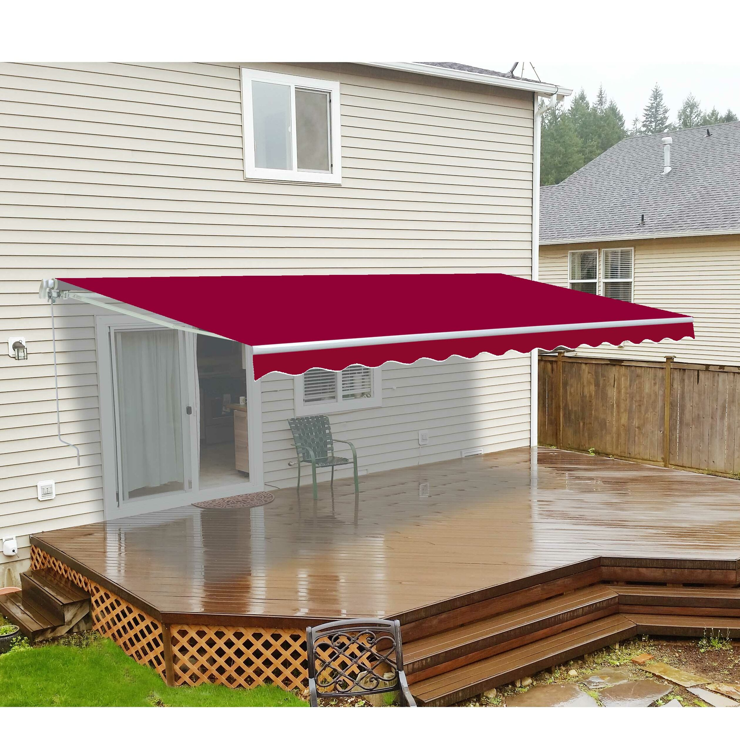 or cassette patio domestic full open after semi private awnings recover acrylic awning material in motorised house