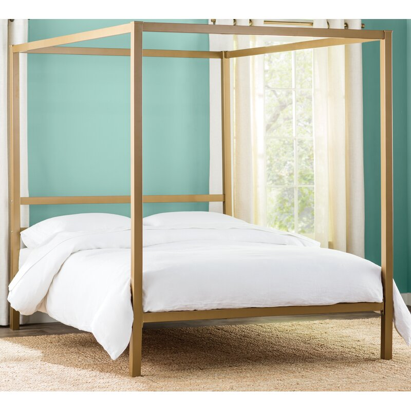 mherger reviews magnificent furniture studios canopy mash pchseries bed with frame wayfair