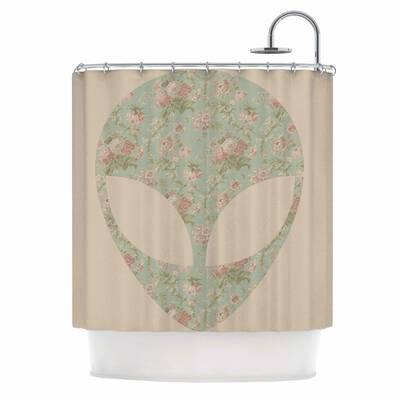 Floral Alien Shower Curtain