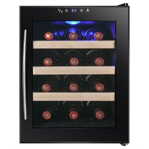 12 Bottles Single Zone Freestanding Wine Cooler by AKDY