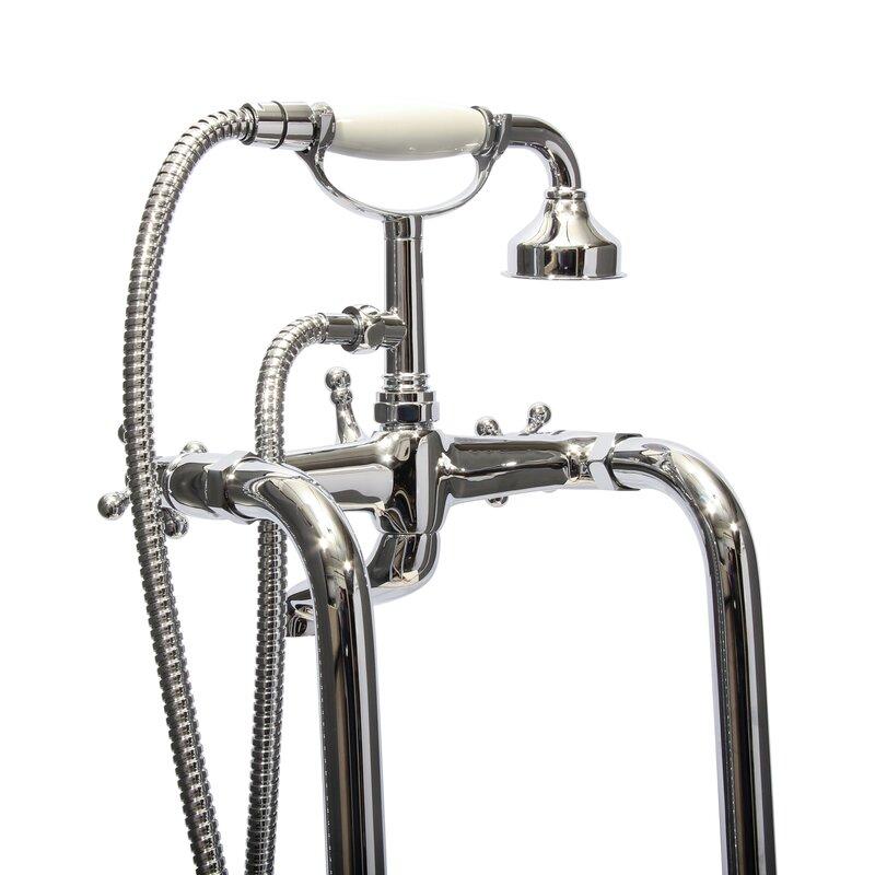 Dyconn Faucet Double Handle Floor Mount Tub Filler Faucet