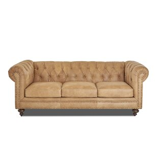 Kavya Leather Chesterfield Sofa