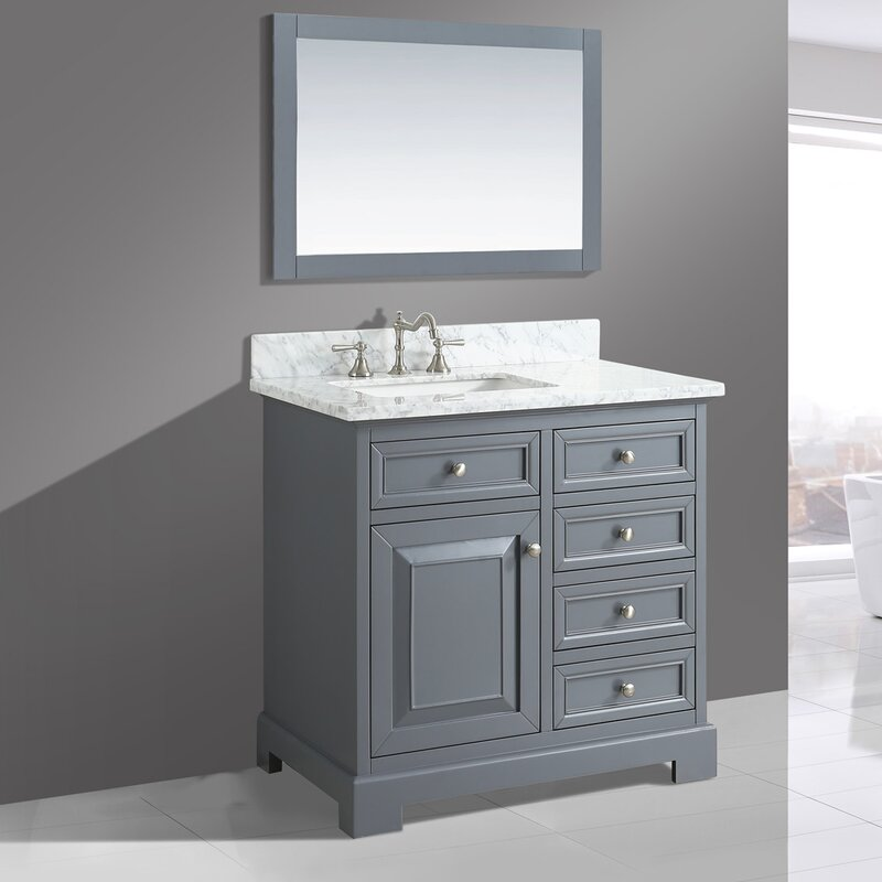 "Bathroom Sinks With Vanity urban furnishings rochelle 36"" bathroom sink vanity set with"